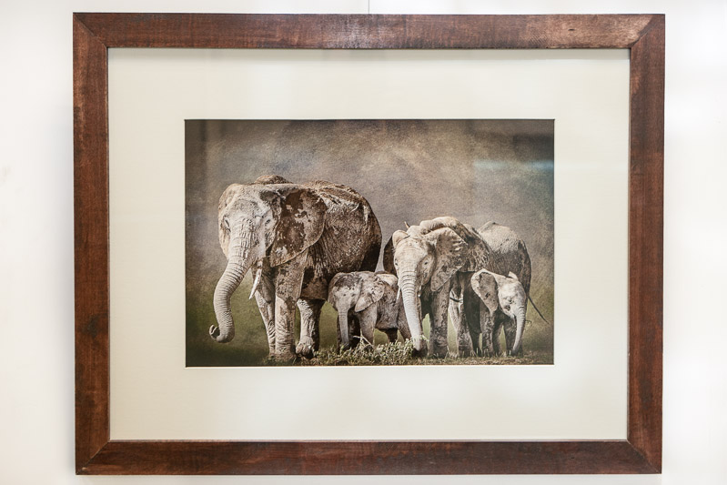 display of artwork at Nairobi art exhibition